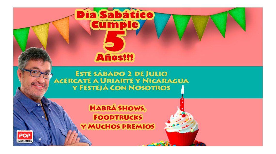 Día Sabático cumple 5 años y lo festeja con todo