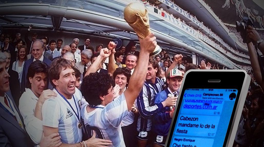 La tecnología llega para todos: los campeones del 86 tienen grupo de WhatsApp