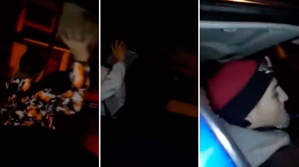 Locura total: jóvenes se filman de noche cuando salen a romper autos