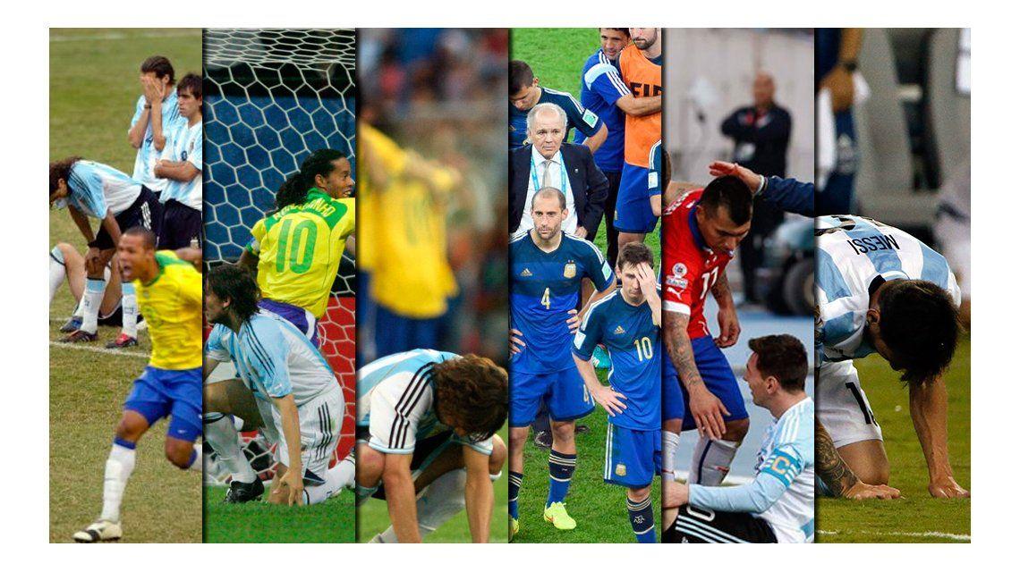 Una maldición que será de 25 años: las últimas 7 finales perdidas de la Selección Argentina