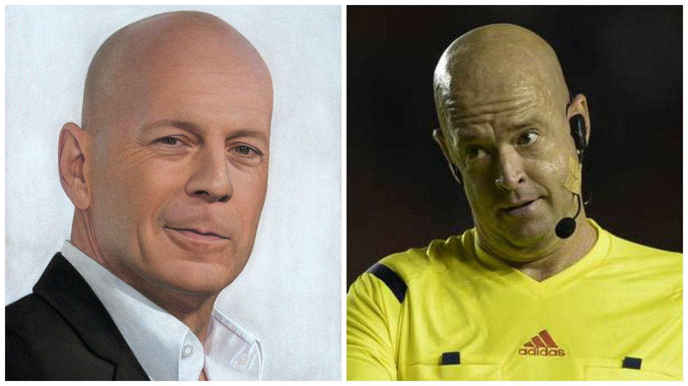 Burlas en Twitter Argentina al árbitro Heber Lopes: lo llaman Bruce Willis