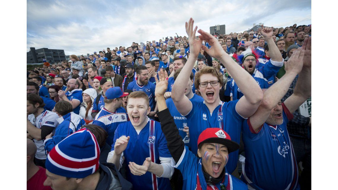 El color de Islandia en la Eurocopa