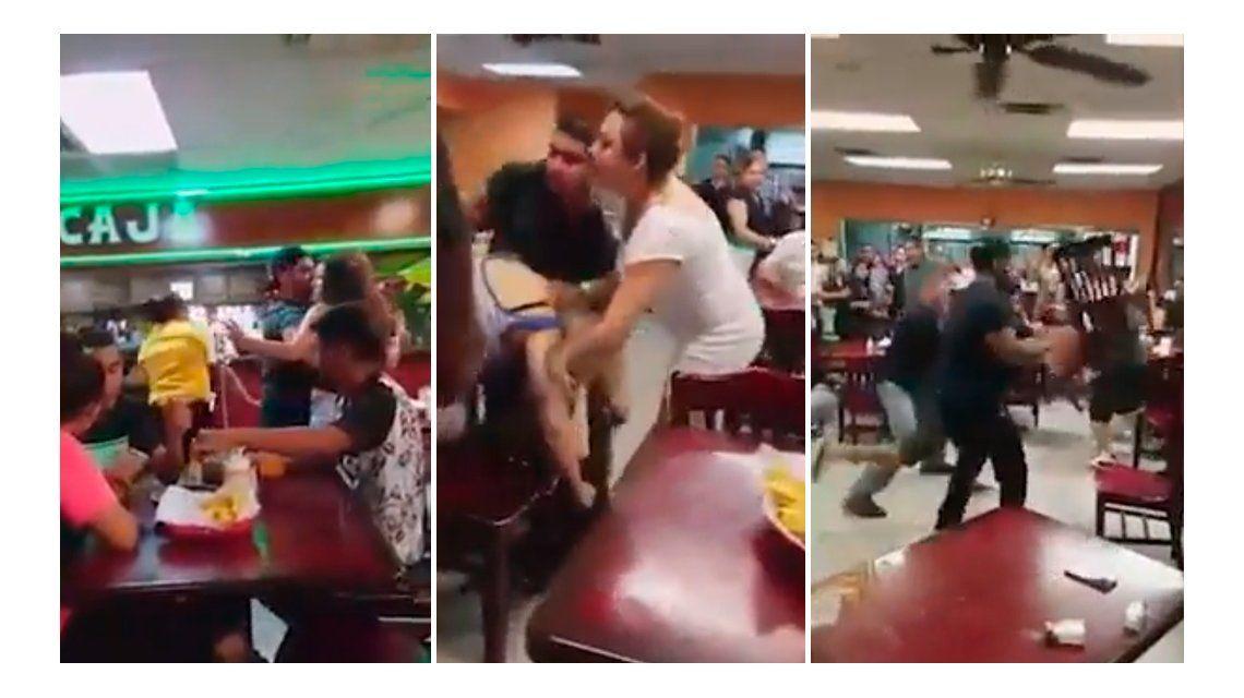 Picantes: discutieron por la salsa en un restaurante y terminaron tirándose sillas