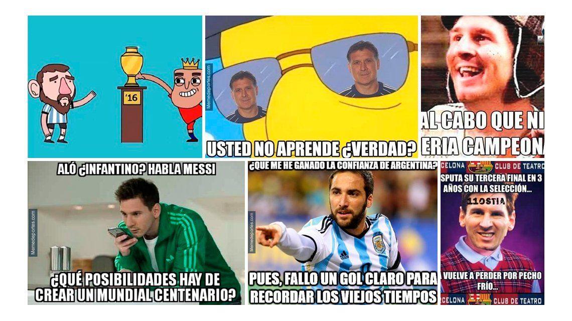 Los crueles memes contra Argentina tras la tercera final consecutiva perdida