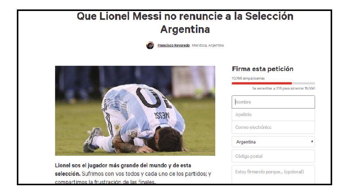 ¿Querés que Messi se quede? Sumate a esta petición