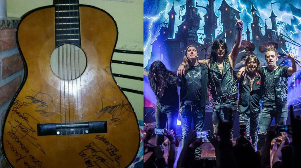 Agustín tendrá una nueva guitarra autografiada por Rata Blanca