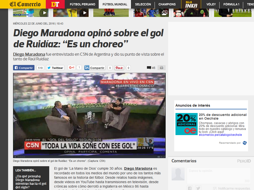 Hizo eco en todo el mundo: mirá las repercusiones de Maradona en C5N