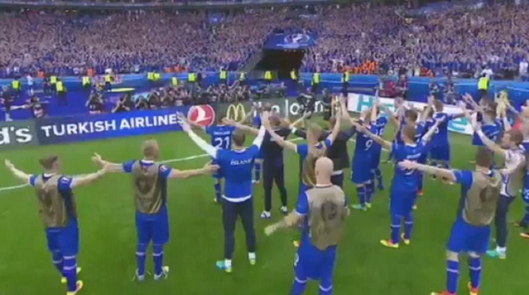 El conmovedor festejo de Islandia tras su primer triunfo en la historia de la Euro