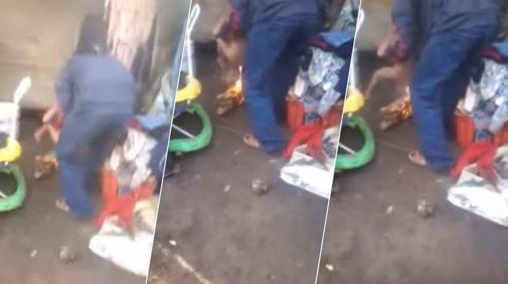 Aberrante: quemaba a su hijastro con fuego porque se hacía pis en la cama
