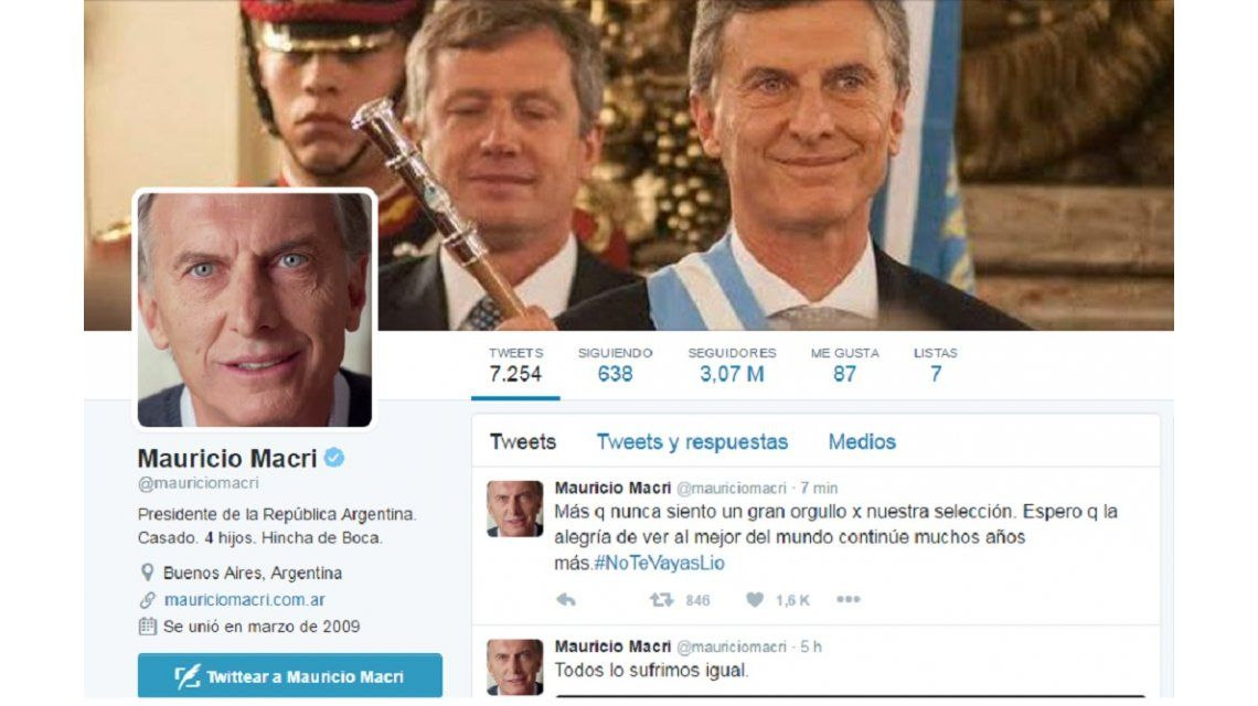 #NoTeVayasLio Macri se sumó al pedido para que Messi siga en la Selección