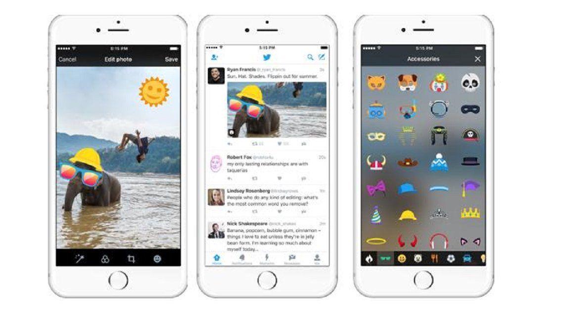 Twitter permitirá agregar stickers a las fotos