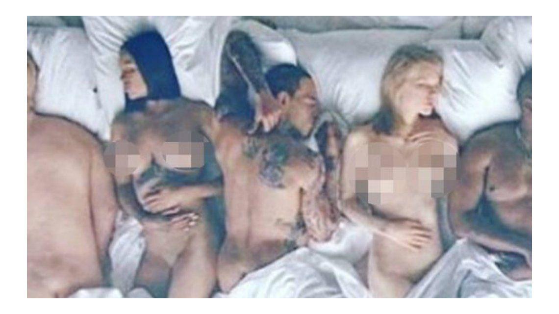 Kanye West presentó su video con Kim Kardashian, Donald Trump y Taylor Swift desnudos