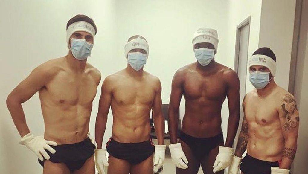 La selección de Portugal se recupera en una cámara de crioterapia a -110 grados