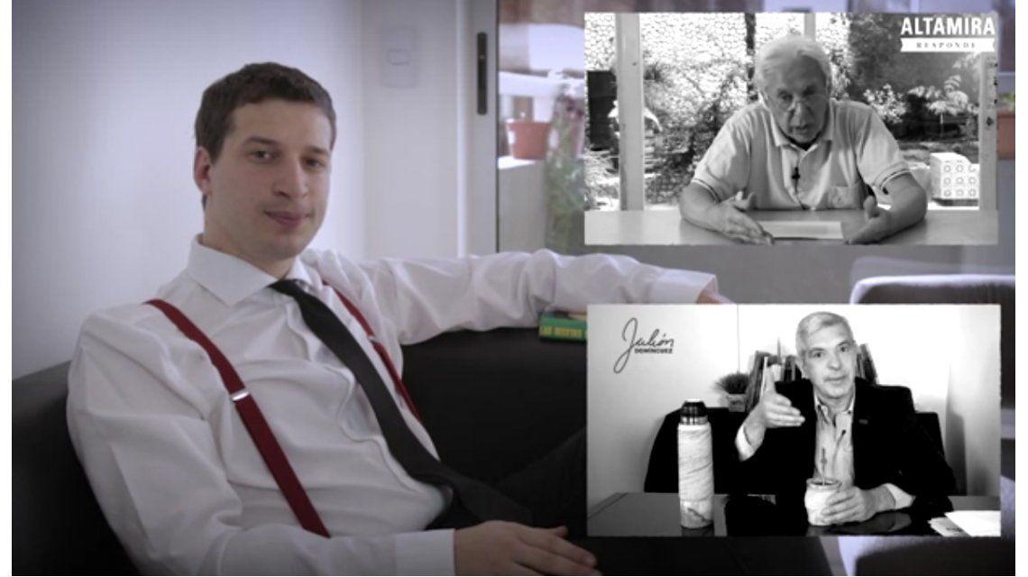 VIDEO: Con una imitación de De la Rúa, se lanzó el youtuber político del Gobierno