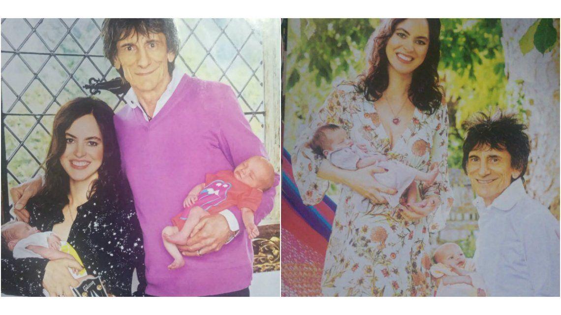 Ron Wood presentó a sus hijas gemelas