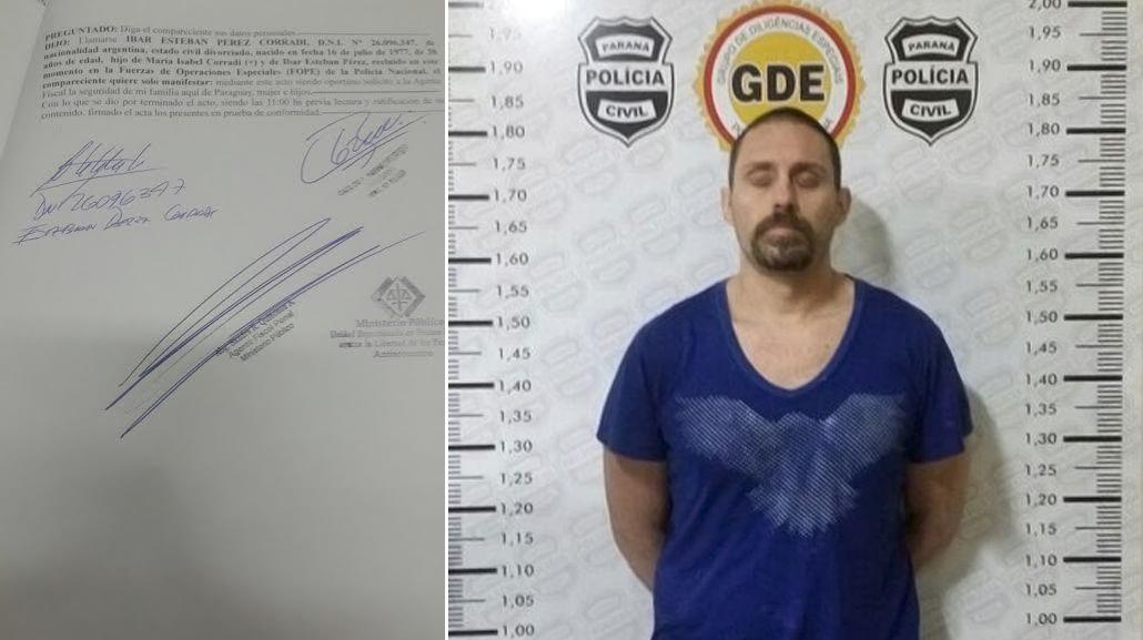 Pérez Corradi se negó a declarar, pero reconoció su identidad