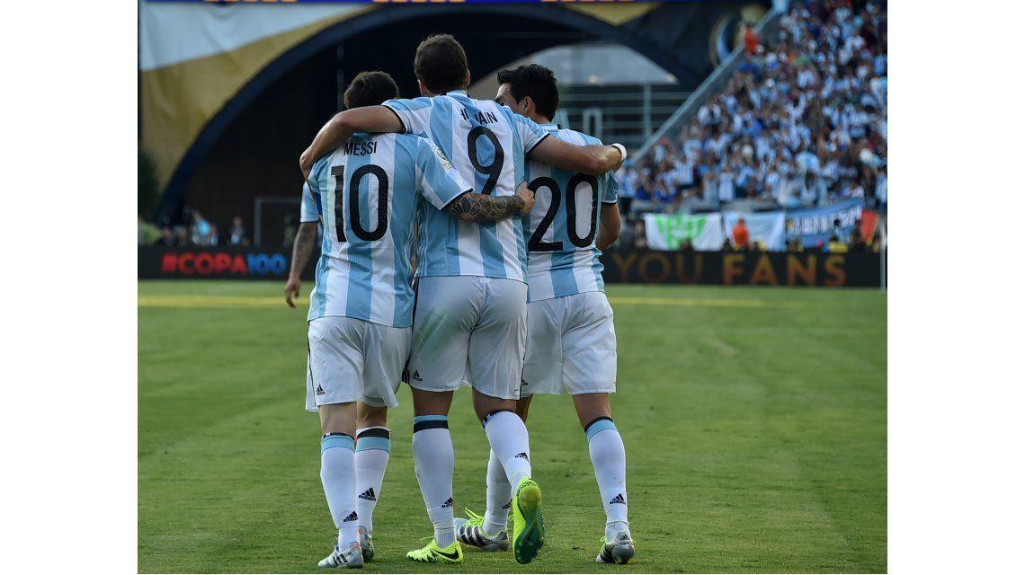 Las fotos de Argentina vs. Venezuela