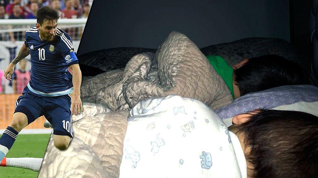 La tierna foto de Antonella Roccuzzo y sus hijos por el nuevo récord de Messi
