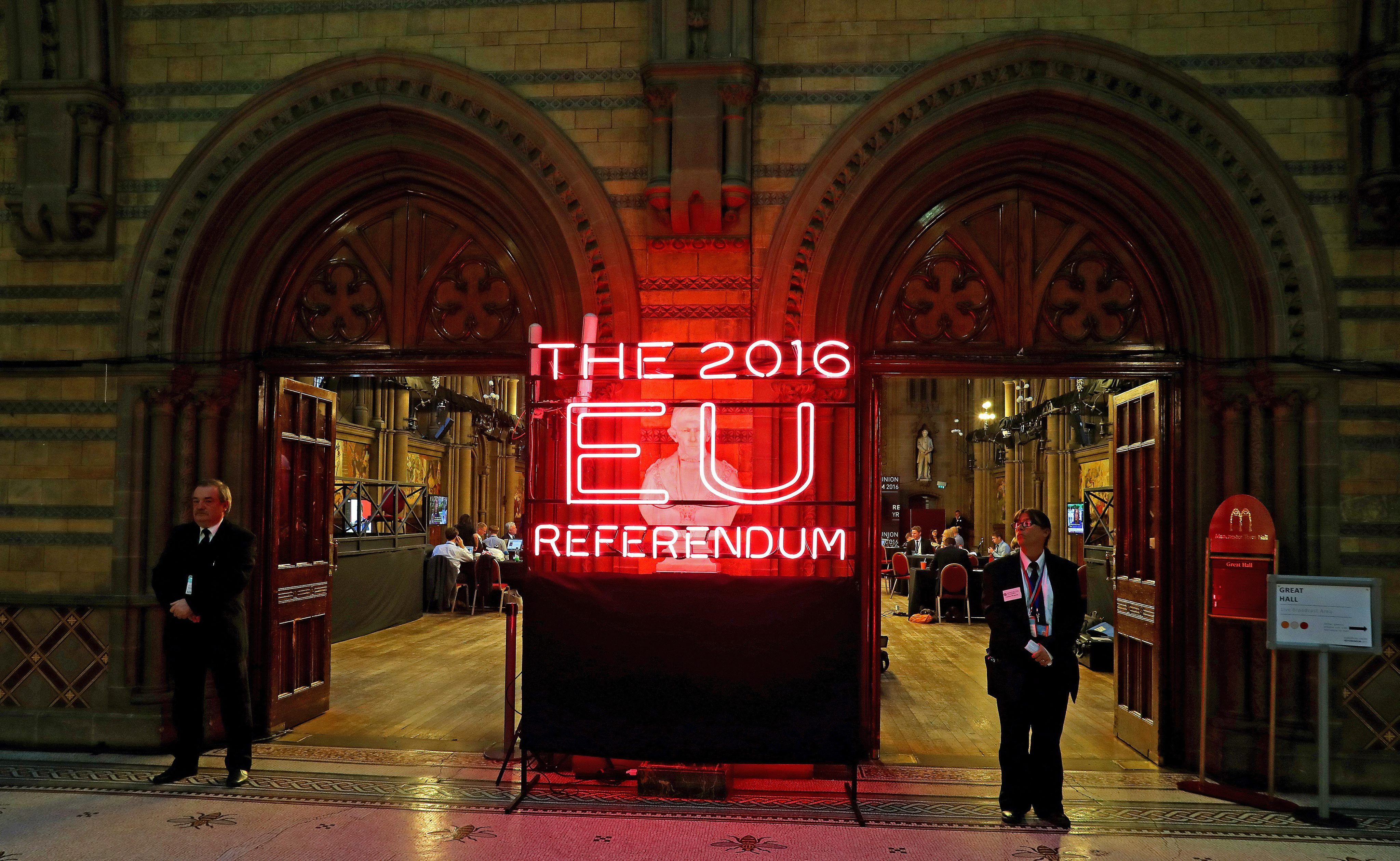 Las imágenes del Brexit en el Reino Unido
