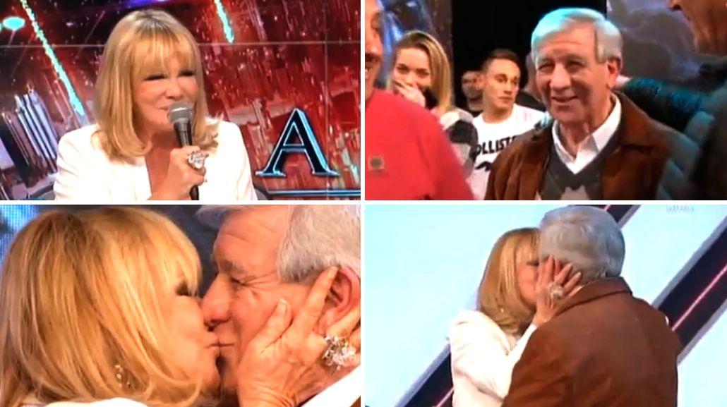Soledad Silveyra confesó su amor por Carlos Pachamé y le dio un pico en vivo