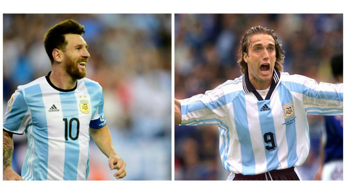 Gritalo con todo: los goles de Messi y Batistuta en la Selección argentina