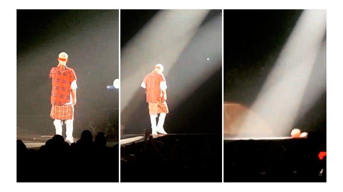 VIDEO: La terrible caída de Justin Bieber durante un show en Canadá