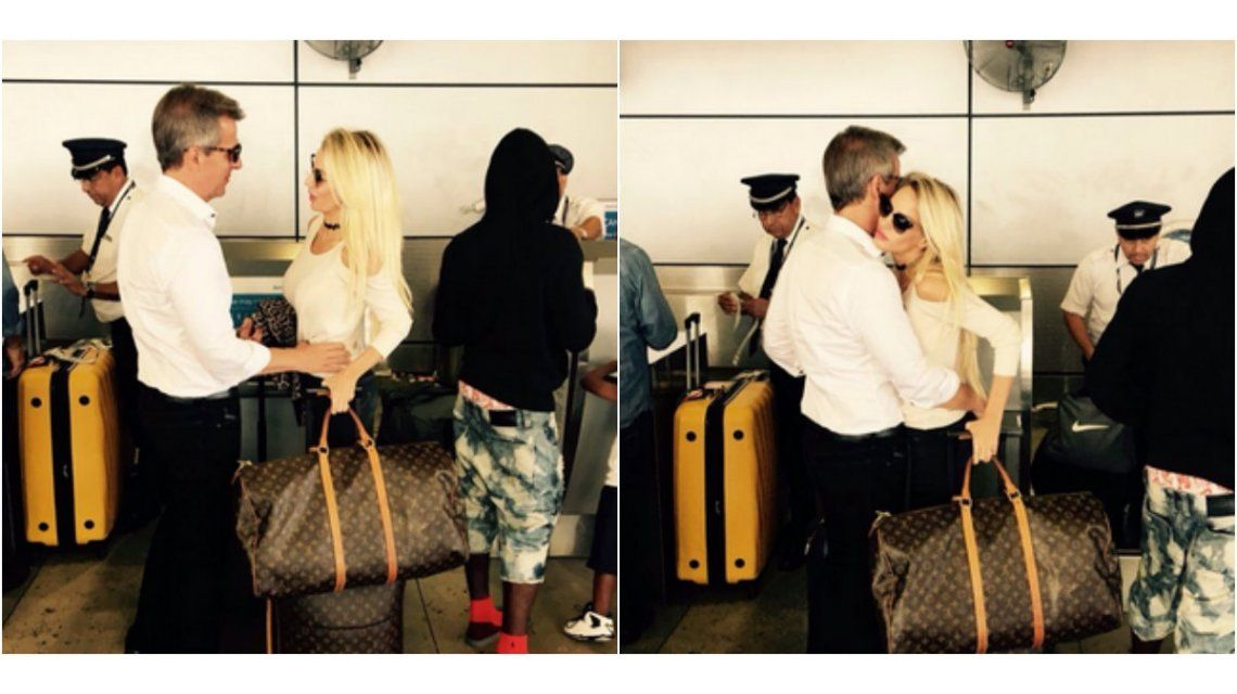 Luli Salazar y Martín Redrado, juntos en Miami: las fotos en el aeropuerto