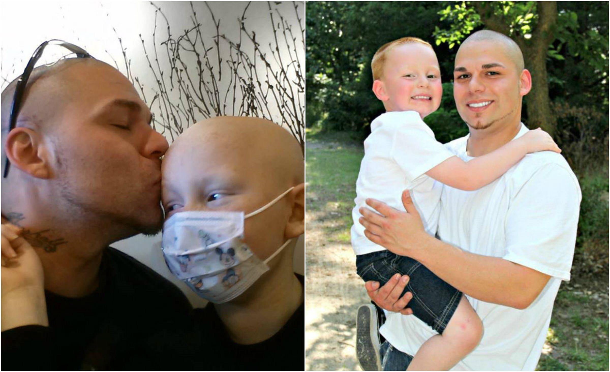 Se tatuó una cicatriz para animar a su hijo con cáncer