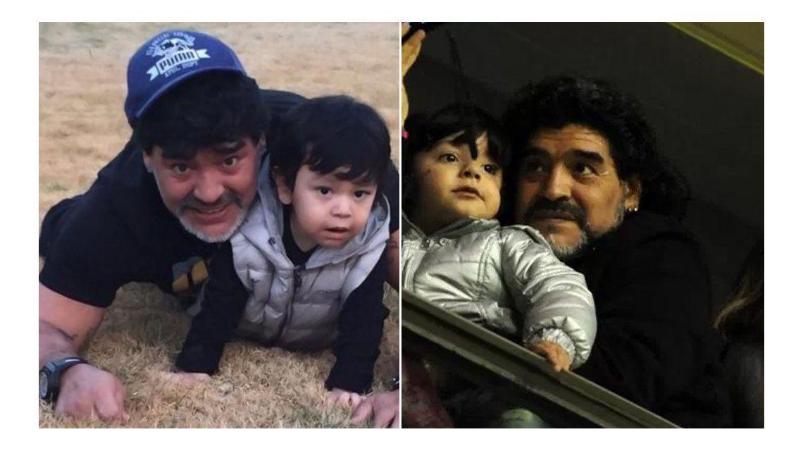 Diego Maradona prometió visitar a Dieguito Fernando y expresó su devoción por su nieto, Benja