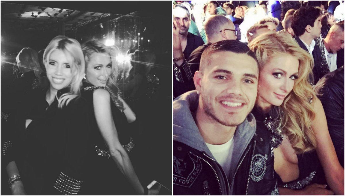 ¿Lo retaron? Mauro Icardi subió fotos con Paris Hilton, pero las borró