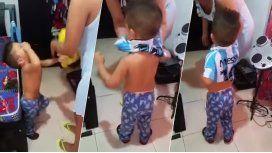 Nene colombiano sólo se calma con remera de Messi