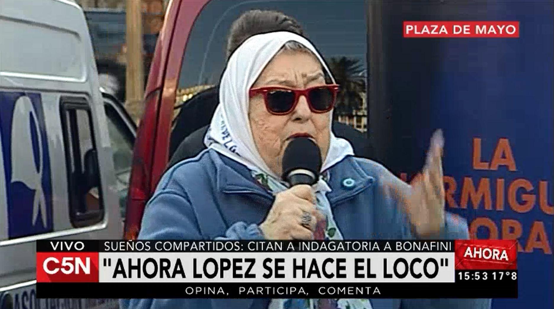 Hebe: López no es sólo un chorro, es un infiltrado en el kirchnerismo