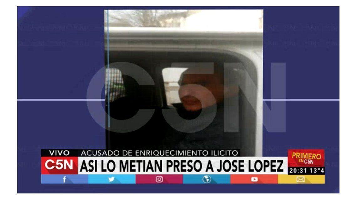Así detenían a José López en General Rodríguez