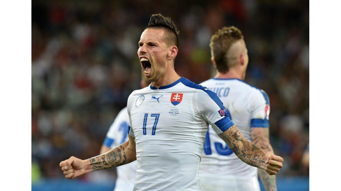 Golazo histórico: mirá la genialidad que le dio a Eslovaquia su primer triunfo en la Eurocopa