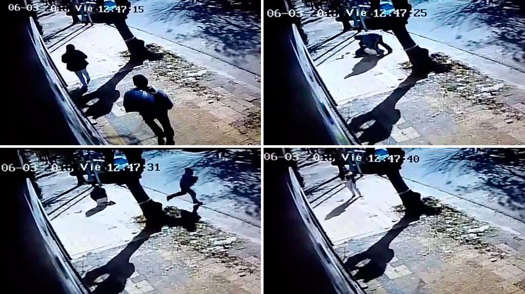 Intentaron robarle a su hija de tres meses en plena calle