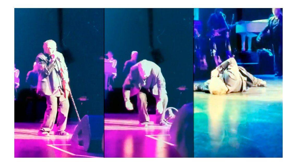 Video: famoso cantante de rock se desplomó sobre el escenario en pleno show