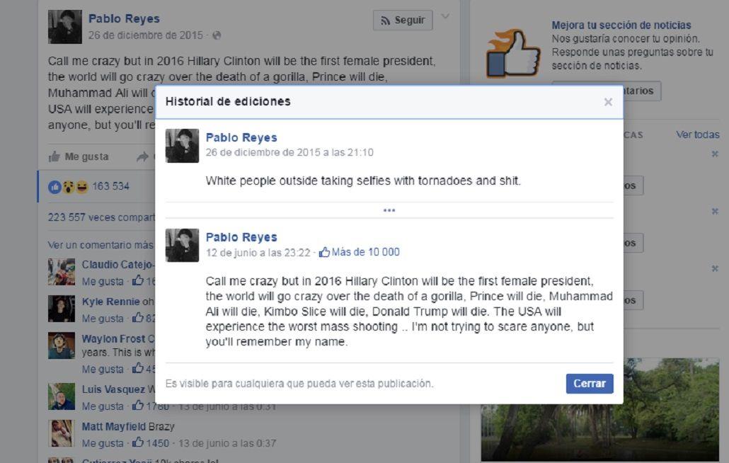 Un Nostradamus de Facebook engañó a miles con la masacre de Orlando
