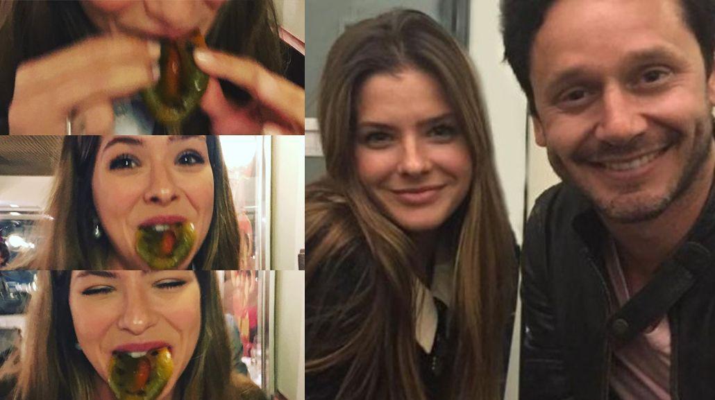 ¿Qué tiene la China Suárez en la boca? La llamativa foto de la actriz cenando con Benjamín Vicuña