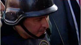 López llegó a la fiscalía para ser indagado