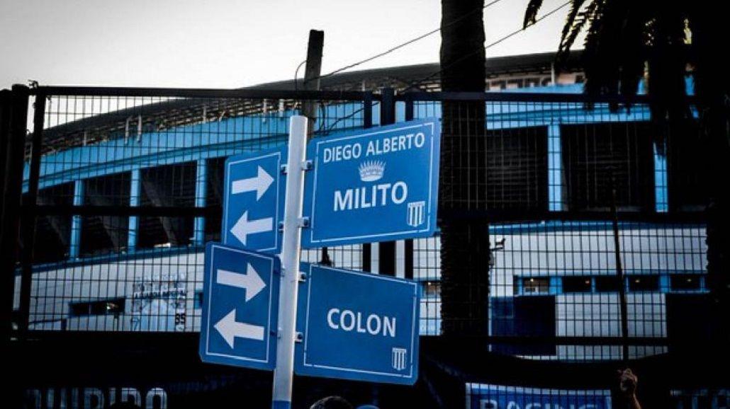 Diego Milito ya tiene una calle con su nombre en la puerta del CIlindro