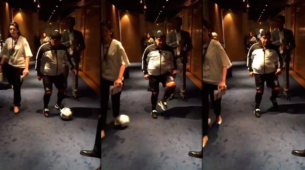 El caño de Diego Maradona en París