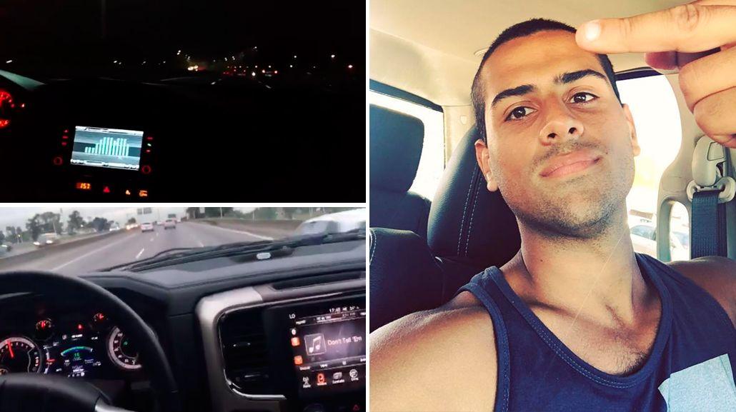 Peligro al volante: un hombre se filma a 200km/h por la autopista