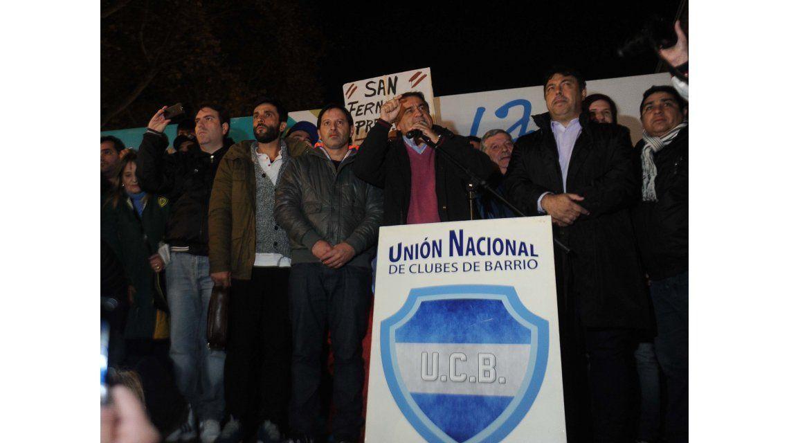 Tarifazo: los clubes de barrio marcharon a Plaza de Mayo