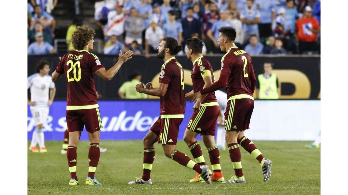 Insólito: el gol que erró Venezuela con el arco de Uruguay vacío