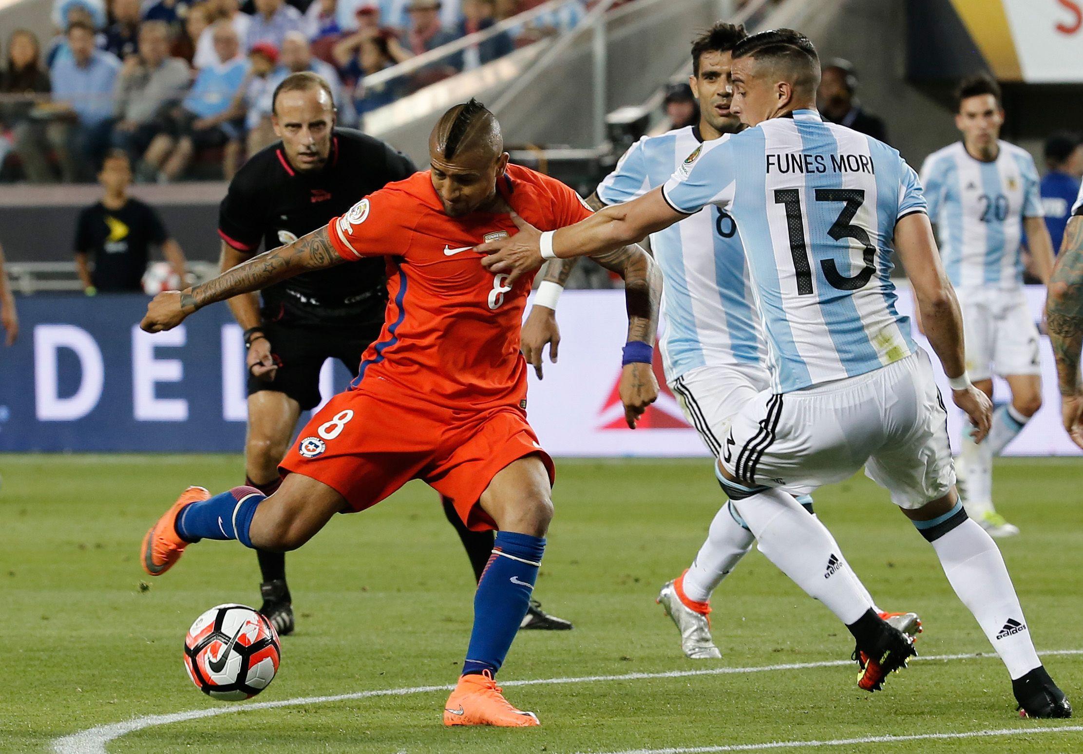 Las fotos del triunfo de Argentina ante Chile