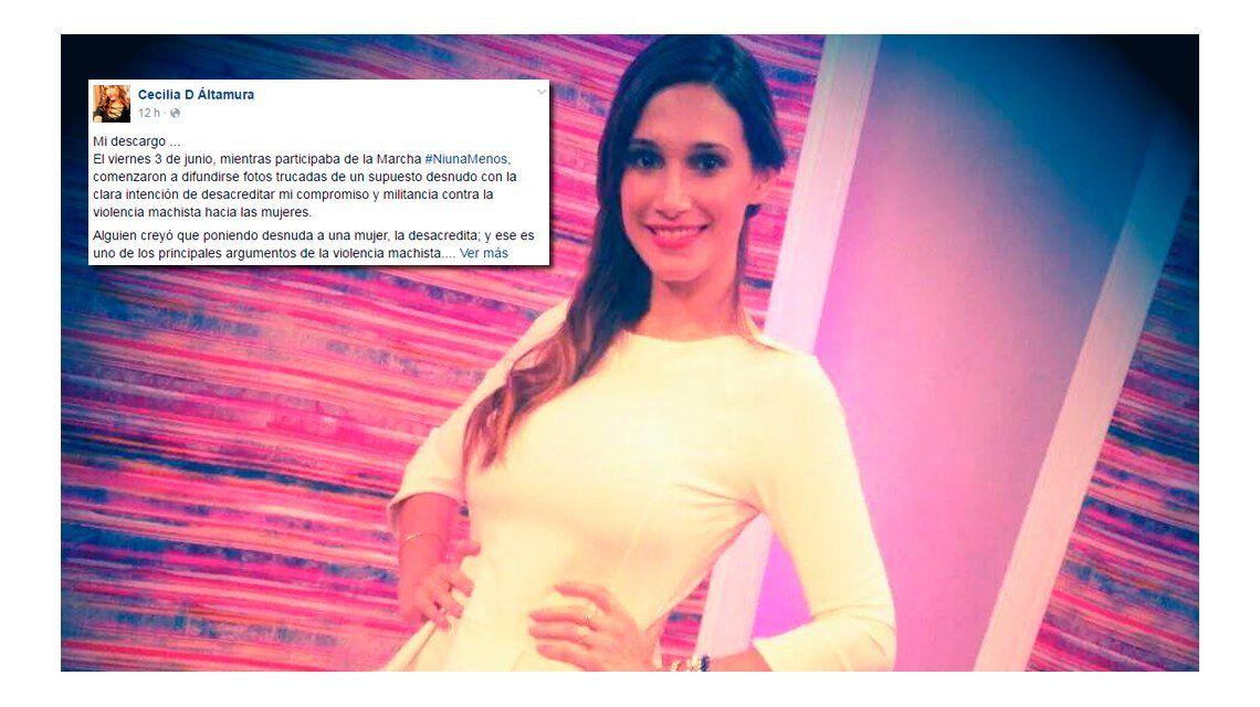 #NiUnaMenos: una periodista fue víctima de Sexting mientras participaba de la marcha