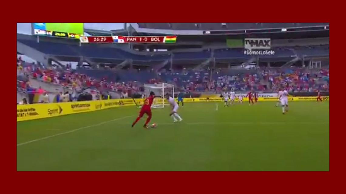 Un calco: un jugador de Panamá imitó la gambeta de Messi a Boateng