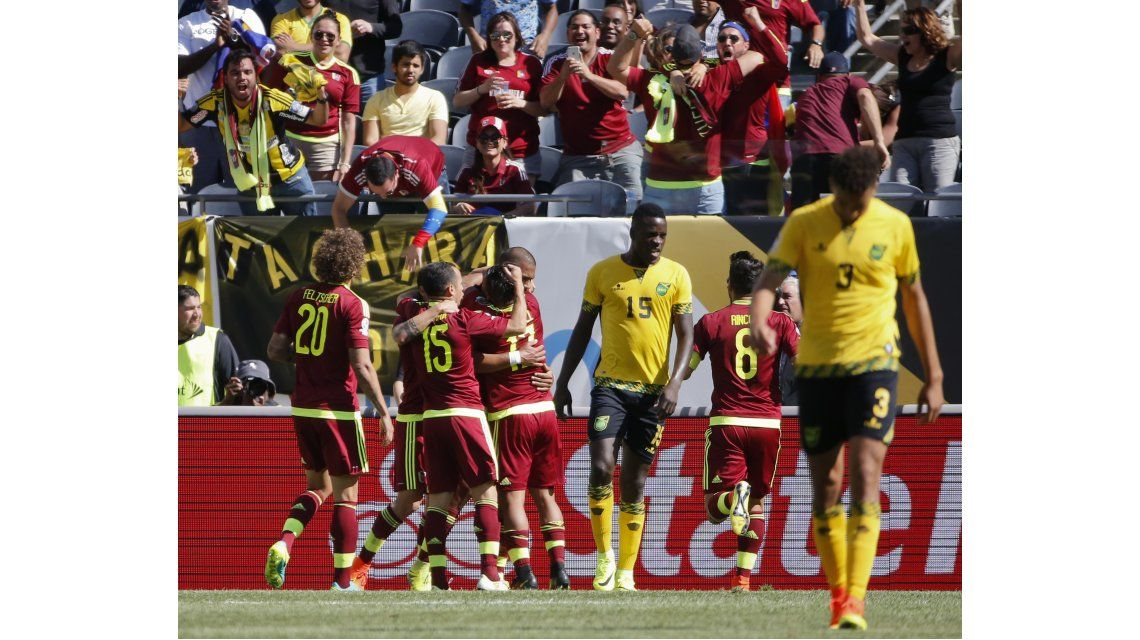 Venezuela le ganó a Jamaica en el arranque del Grupo C