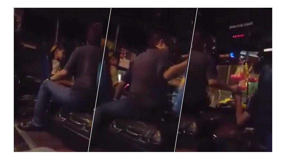 VIDEO: Escrachan a un chofer que maneja con cervezas en el colectivo