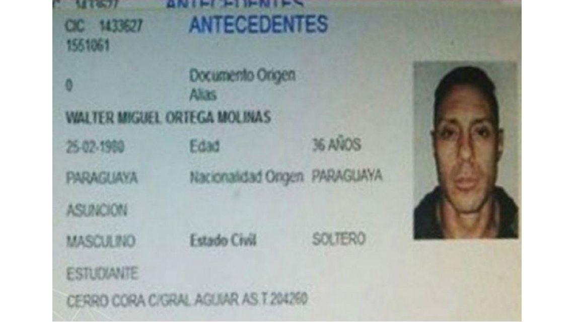 Pérez Corradi sigue en Paraguay y usa el documento de un muerto para esconderse